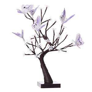 Cherry Blossom Battery/USB Powered Flower Tree Table Lamp - £8.99  £ (Prime) / £12.98 (non Prime)  - Sold by ATFRUK and Fulfilled by Amazon - lightning deal