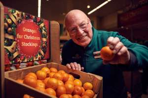 Free orange wrapped in Christmas tissue paper + Christmas story card  @ Morrisons (starts Saturday 16th)