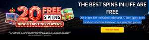 20 free spins on Sky Vegas for new and existing customers today.