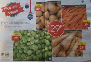 Lidl Pick Of The Week Veg only 29p from 14th - 27th December