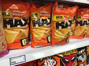 Walkers Max Paprika 6 Pack 50p at Poundstretcher