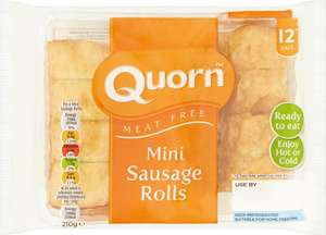Quorn Mini Sausage Rolls 12 per pack was £2.00 now 2 packs for £2.50 @ Ocado