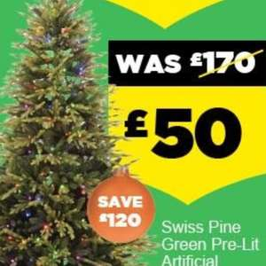 Christmas tree pre lit. £50 at Homebase