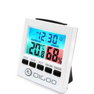 Digoo DG-C6 Digital Home Indoor Thermometer Hygrometer Humidity Monitor Gauge + Alarm Clock with Colorful LCD Backlight £4.57 Del w/code @ Banggood