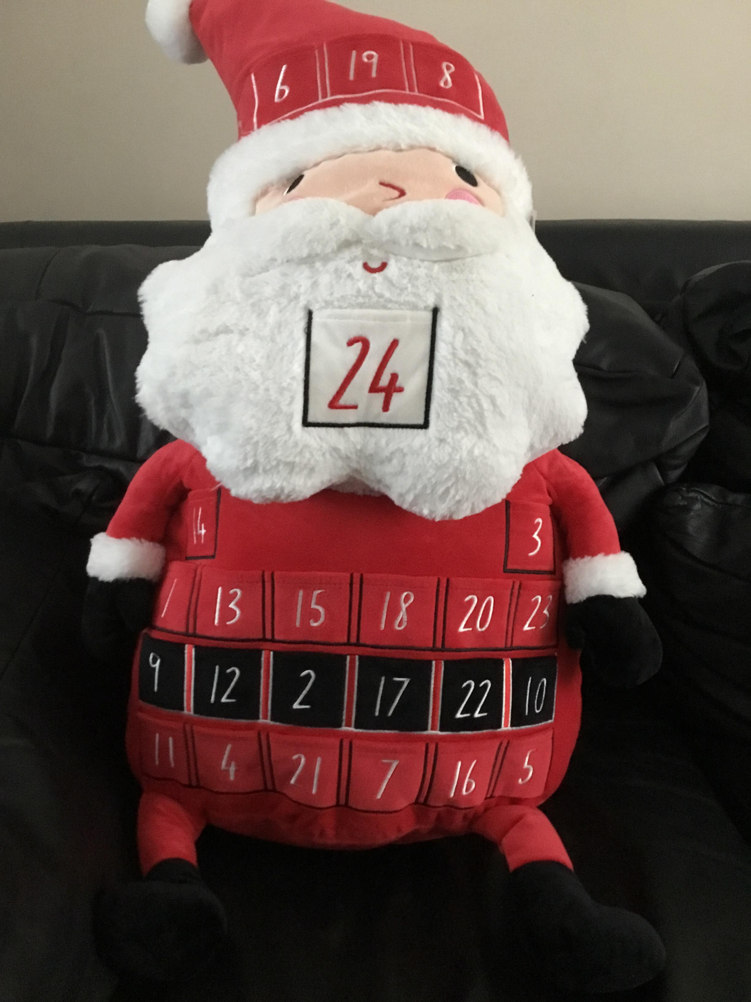 Plush Soft Toy Santa Advent Calendar at Sainsburys £8