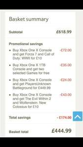 Xbox One X (+6 free games!) - only £444.99 @ Tesco