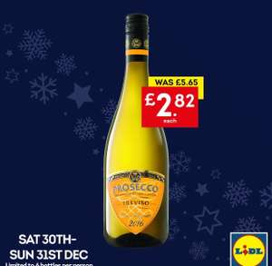 Prosecco only £2.82 in Lidl Northern Ireland New Years eve weekend