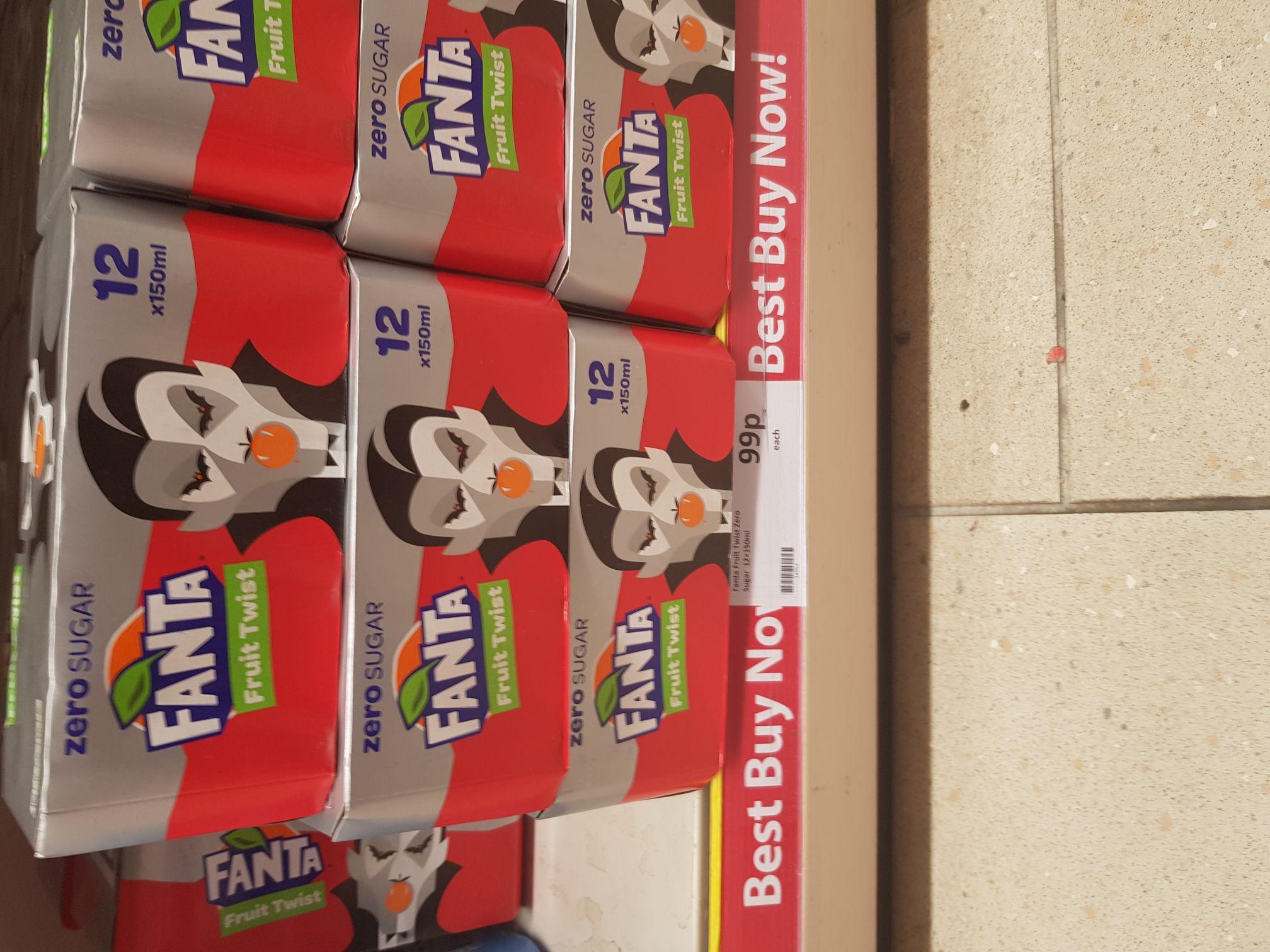 Fanta Twist 12 mini cans Heron Foods - 99p