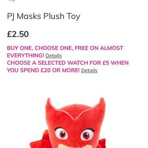 Pj masks plush toy at Claires for £2.50