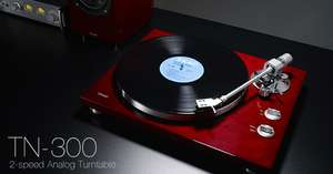 TEAC TN 300 CHERRY RED Turntable Record Vinyl Player £229 @ richer Sounds