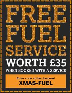 FREE fuel service with a service @ Halfords