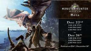 Monster Hunter: World Beta begins December 22 at 5pm GMT and is open to ALL PlayStation players.