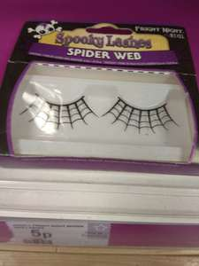 Spooky fright night spider web lashes RRP £4.19 now only - 5p @ Superdrug