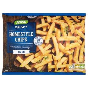 ASDA  crispy homestyle chips  1.25kg     £1.25 @ ASDA