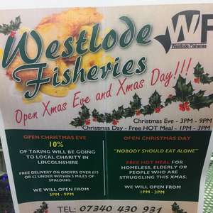 FREE Fish & Chips on Xmas Day - Westlode Fisheries Chip Shop in Spalding, Lincolnshire