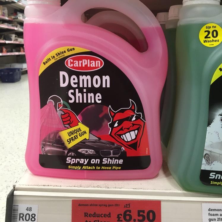 Demon Shine 2 litre w/Spray Gun £6.50 instore @ Sainsburys