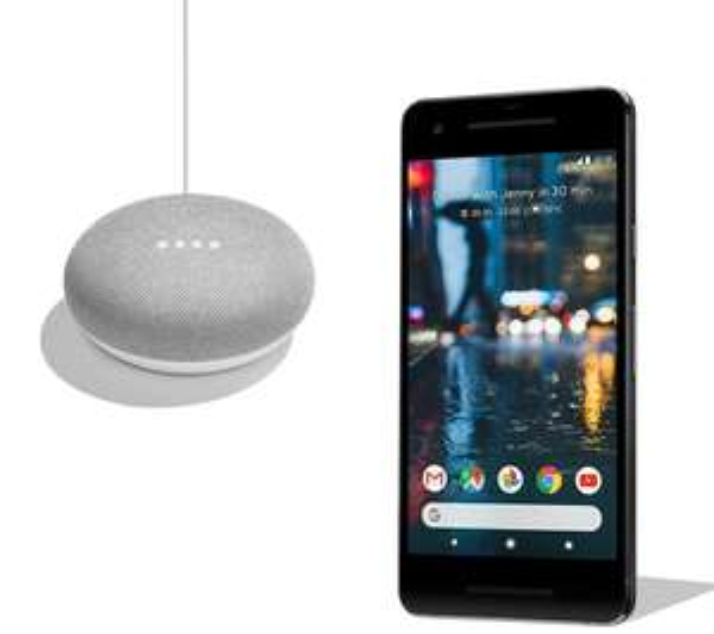 Google Pixel 2 (All colours) & Google Home Mini Bundle - 64 GB - £529 / 128 GB - £629 @ Currys