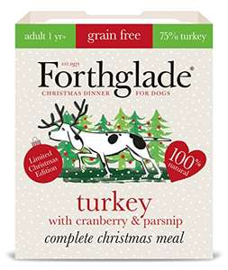 Forthglade Turkey, Cranberry and Parsnip dog food 7 pack (99p each) or £5.59 with new S&S accounts - Amazon