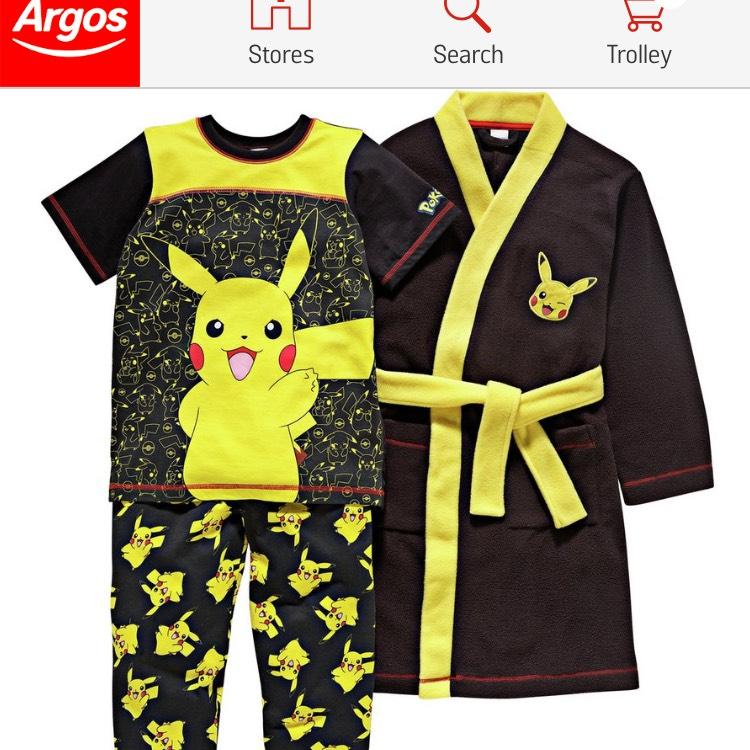 Pokemon pjs & gown £13.49 @ Argos