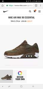 Nike air max 90 essential - £52.10 (with code) @ Nike.com