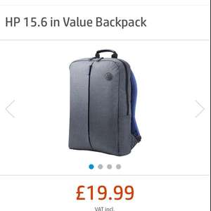 HP 15.6 in Value Backpack @ HP - £19.99 - Possible additional 30% discount with Unidays