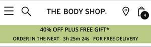 40% OFF AND A FREE GIFT WHEN YOU SPEND OVER £15 @ The Body Shop