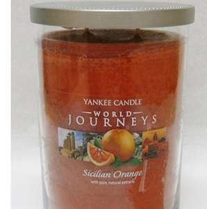 Limited Edition Rare Official Yankee Candle World Journeys Sicilian Orange Large Jar Twin Wick Tumbler - £7.99 Sold by MySwift / .Fulfilled by Amazon