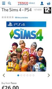 The Sims 4 PS4 - £26 instore @ Tesco