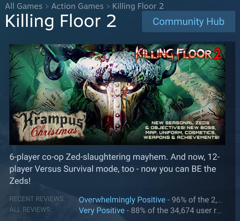 Free weekend Killing Floor 2 @ Steam