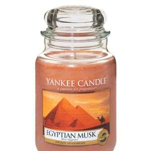 Large Yankee Candle Jar(s) - eg: Egyptian Musk - Sold by MySwift / Fulfilled by Amazon - £9.99 Prime / £14.74 non-Prime