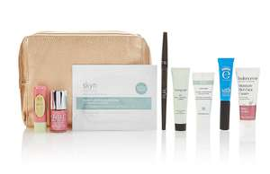 Marks & Spencer Winter Wonders, Winter Bag, With Eyeko Mascara, Pixi Lip Balm, Autograph DD Cream, Ren Rescue Mask, Skyn Eye Gels, Pur Eyeliner, Nails Inc Polish, Balance Me Face Cream And Gold Zip-Up Bag, £10, Was £70 (Free C&C) @ M&S