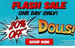 20% off selected dolls at Toys R Us