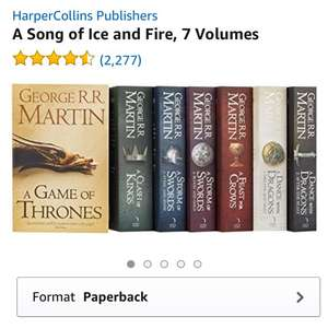 Game Of Thrones: A Song of Ice and Fire Books 1-7 Boxed Set £21.99 at Amazon