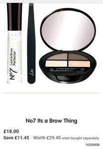 Boots No.7 Its a Brow Thing £18 worth £29.45 when bought separately