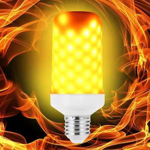 LED Flame Light Bulb Emulation Flaming Decorative Lamp E26 / E27 £3.76 Delivered w/code @ GearBest