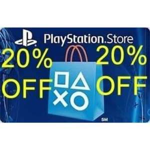 US PSN 20% In Cart Discount Valid to 25/12 - Check Emails