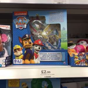 PAW PATROL pop up game £2.99 @ Home Bargains.