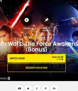 Star Wars force awakens on offer to own on rakuten/wuaki for £4.99 inc 2hrs bonus material