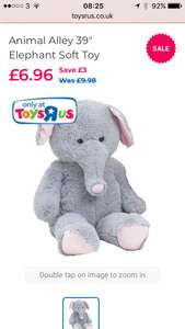 "39"" elephant teddy  instore for £6.96 (see description)"