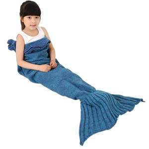 Amazon Prime.  Mermaid tail blanket in blue for kids Sold by OKAYSHOP and Fulfilled by Amazon for £5 Prime (£7.99 non Prime)