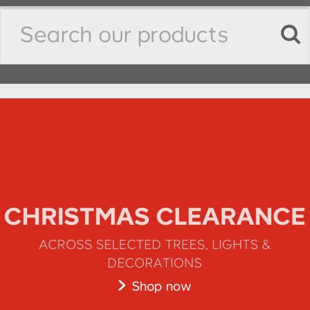 B&Q Christmas clearance