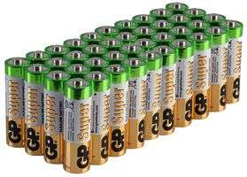 GP BATTERIES  40 AS @ CPC Farnell £8.40