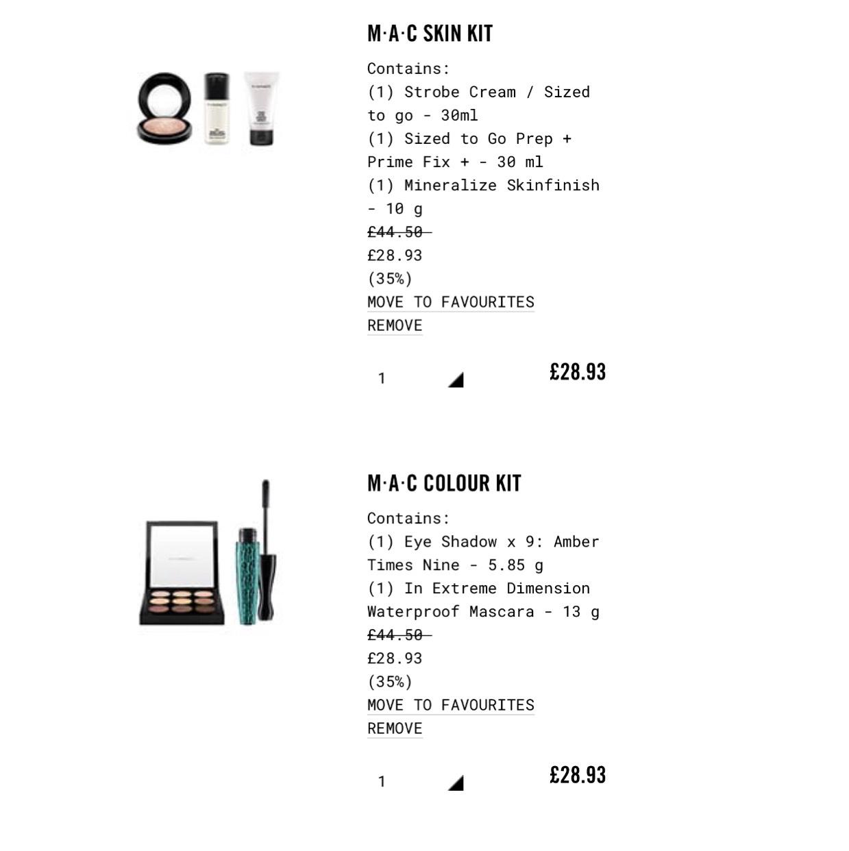 Mac Colour Kit & Skin Kit £28.93 @ Mac