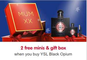 BOOTS - Free mini YSL Black Opium EDP 7.5ml & Gift Box - Starts at £71