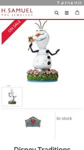 Olaf figurine with flower save £10 - £9.99 @ H samuel - Free c&c