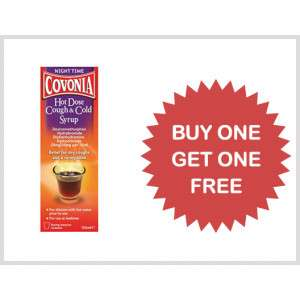 Covonia Hot Dose Cough & Cold Syrup 150ml - BOGOF £2.95 / £6.14 delivered @ Pharmacy first