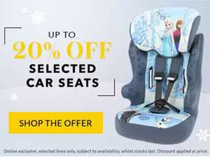 GEORGE UP - UP TO 20% OFF ON SELECTED CAR SEATS