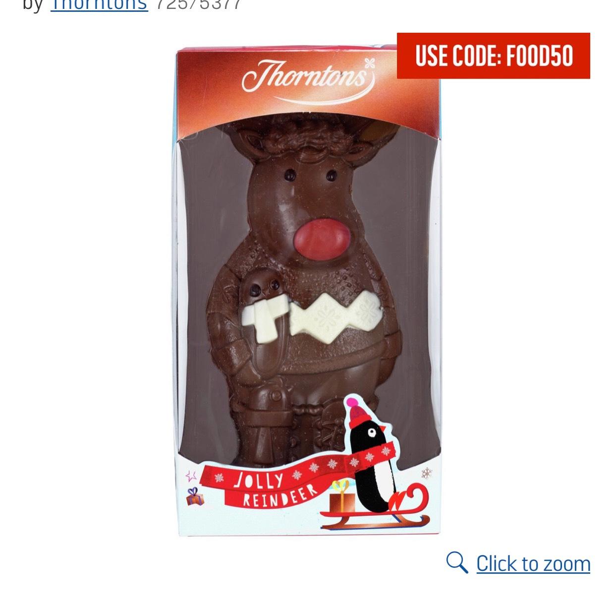Thorntons Chocolate Reindeer