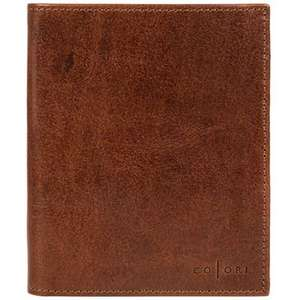 Pure Luxuries London - Cognac 'Massimo' handmade veg-tanned Italian leather wallet £36 (add 3.49 for delivery or make order up to £45 for free delivery ) @ Debenhams