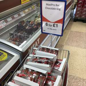 Maximuscle Chocolate Maxipro bars 19p or 6 for £1 @ Heron